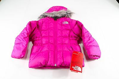 New Toddler Girls' The North Face Gotham Jacket Cn22H0E Pink Msrp: $150