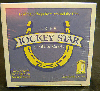 Vintage 1999 Jockey Star Trading Cards Box Factory Sealed New IN Box