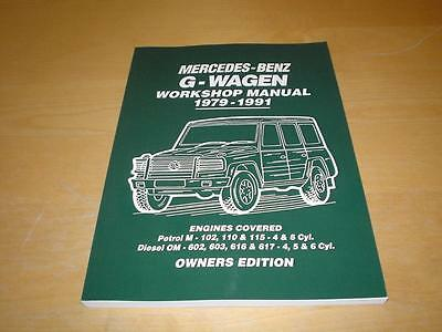 MERCEDES G CLASS WAGEN 230G 230GE 280GE 230 280 GE Owners Repair Manual Handbook