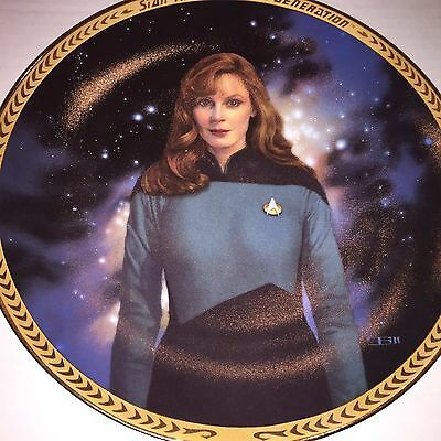 Star Trek Next Generation Collectors Plate Beverly Crusher