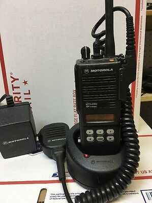 Motorola MTS2000 Model II 2 800 MHz Radio Working W Charger Battery Antenna Mic!