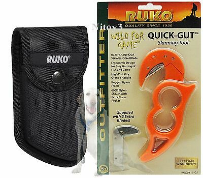 Ruko Quick-Gut Skinning Tool For Fish And Game With Sheath