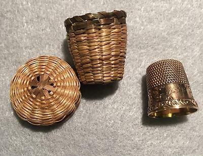 14k Gold Thimble with case ~ Ketcham & McDougall