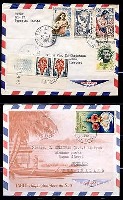 FRENCH POLYNESIA 5 DIFF 1960's-70's COVERS TO USA