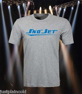 Sno-Jet vintage snowmobile style t-shirt with 70`s style logo
