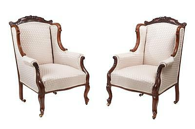 Pair Of 19Th Century Mahogany Library Chairs