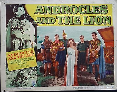 Full Set Of 8 Androcles And The Lion 1952 Vintage Lobby Film Cards Jean Simmons