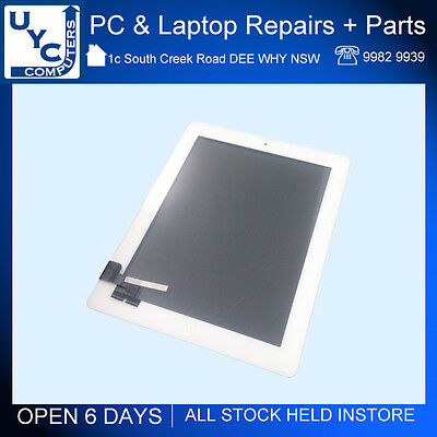 Brand New Front Glass Digitizer Screen Replacement for Apple iPad 2 White A1395