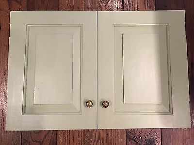Vintage Antique Cabinet Bookcase Doors - Recessed Panels - Wood - Hand-Planed