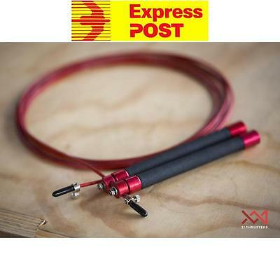 21 Thrusters XX1-SR2 Light Weight Speed Jump Rope Crossfit MMA Double Unders