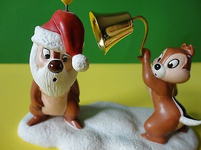"""WDCC Pluto's Christmas Tree """"LITTLE MISCHIEF MAKERS"""" Chip and Dale Santa Candle"""