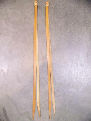 One Pair Leather Saddle Strings~~26 Inches Long~~1/2 Inch Wide~~Light Oil