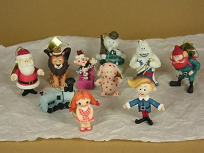 10 Rudolph Ornaments from The Island of Misfit Toys by Enesco 1999