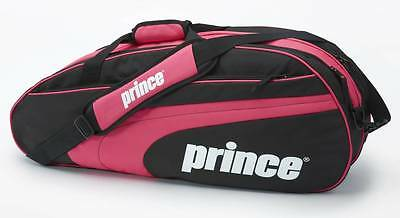 Prince Club Collection 6-Pack Pink/Black Tennis Racket/Raquet Bag New with Tags
