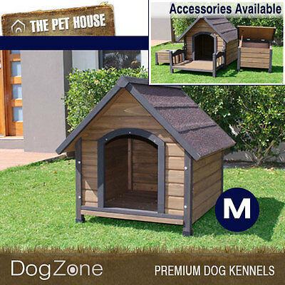 NEW Brunswick Medium A-Frame Wooden Dog House Wood Timber Kennel