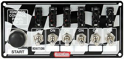 QUICKCAR RACING PRODUCTS 6-7/8 x 3-1/4 in Dash Mount Switch Panel P/N 50-163