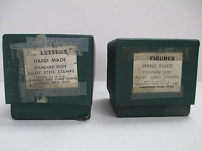 """Letter & Number Set (3/8"""" size) Greenfield Hand Made Stamps"""