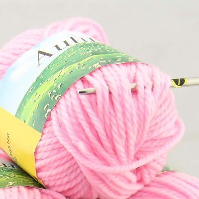 Sale New 1ballx50g Chunky Worsted Soft Wool Hand Knitting Yarn 202 pink
