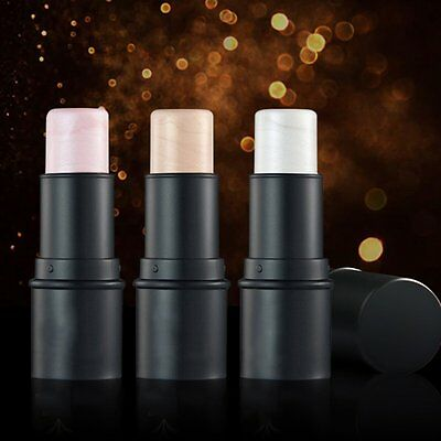 Waterproof Round Tube Highlighter Stick Enhance Complextion Cream Shimmer MG@#