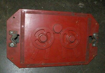 Old Foundry Rigged Wood Pattern Match plate Industrial Circular Casting Molds