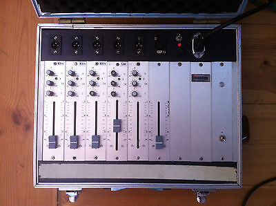 Vintage german Mic pre Amps field mixer Lunch Box