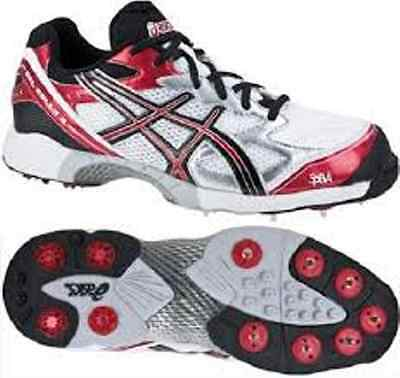 Asics Size Us 9 Mens Gel-Gully 3 Cricket Spikes Shoes - P223Y - White/black