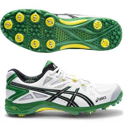 Asics Size Us 8.5 Mens Gel-Advance 6 Leather Cricket Spikes Shoes - P416Y