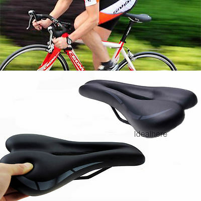 Road MTB Gel Saddle Bike Bicycle Cycling Seat Wide Soft Comfort Cushion Padded
