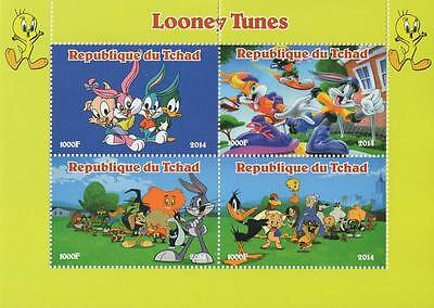 Looney Tunes Disney Animated Cartoon Bugs Bunny 2014 Mnh Stamp Sheetlet