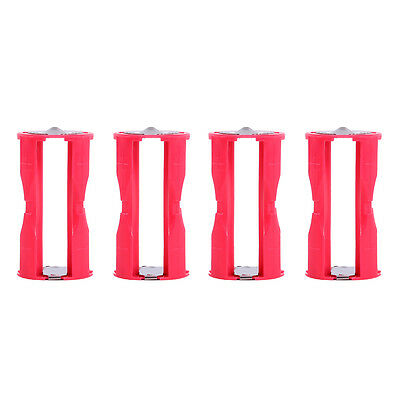 4pcs 4AAA to C Size Parallel AAA Battery Adapter Holder 1.5V Case Box Converter