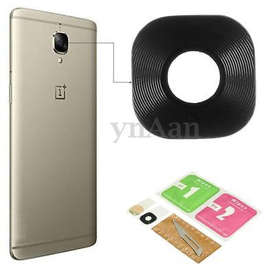 Black Back Rear Main Camera Glass Lens Protector Cover Kit Set For OnePlus 3