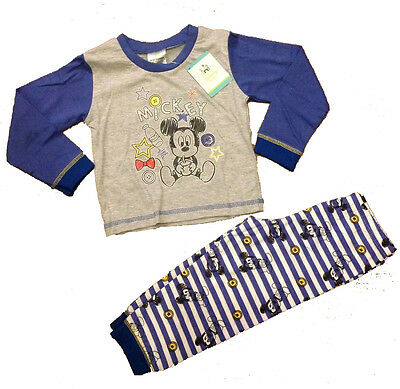 New Disney Baby Adorable 'Mickey Mouse' Two Piece Printed Character Pyjamas PJ