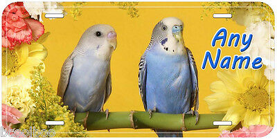 Parrot Pair Aluminum Personalized Any Name Novelty Car Auto License Plate