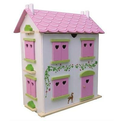 Candy Cottage Wooden Dolls House and Furniture FREE NEXT DAY Delivery
