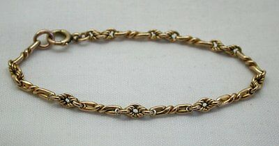 Lovely Antique/ Vintage 9ct Gold Fancy Link Albert Bracelet