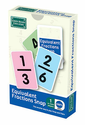 BrainBox Snap and Pairs - Equivalent Fractions Card Game Matching Numbers Educat