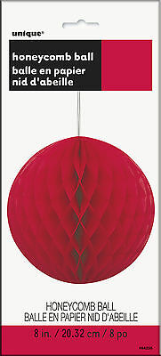 Honeycomb Ball 20CM Red Party Supplies Decoration Hanging Paper Wedding