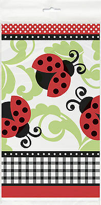 Ladybugs Tablecover Party Supplies Decoration Baby Shower Boy Girl Ladybird