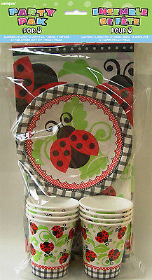 Ladybug Party Pack Inc Napkin Plates Tablecover CupBaby Shower Ladybird
