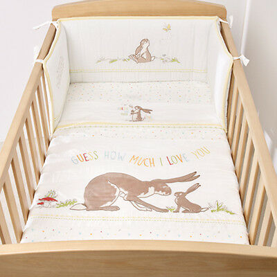 Guess How Much I Love You 4 Piece Cot Bed Set - Coverlet - Baby - Toddler