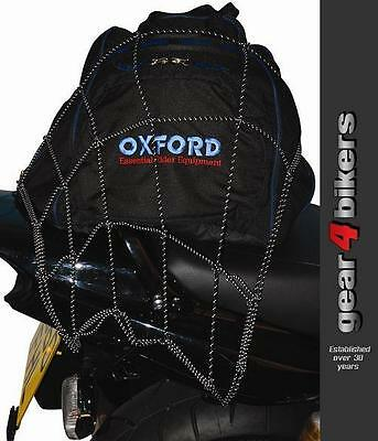 Oxford Bright Net Elasticated Reflective Cargo Luggage Net Motorcycle Scooter