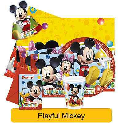 Disney PLAYFUL MICKEY MOUSE Birthday PARTY Range (Tableware & Decorations)