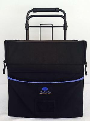 Extra Large Creative Memories Wheeled Rolling Scrapbook Tote Organizer Cart