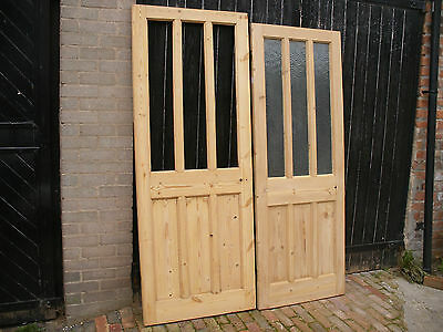 Reclaimed interior 6 panel 1930s doors. Stripped and sanded