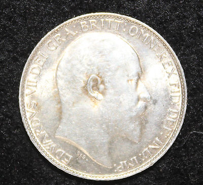 King Edward VII 1908 Silver 6d Sixpence Extremely Fine EF