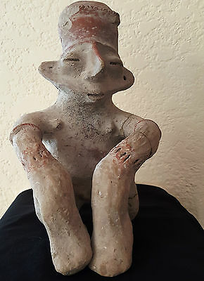 "RARE Mexican Jalisco Human Effigy 500-200 BC 8.25"" tall, with COA"