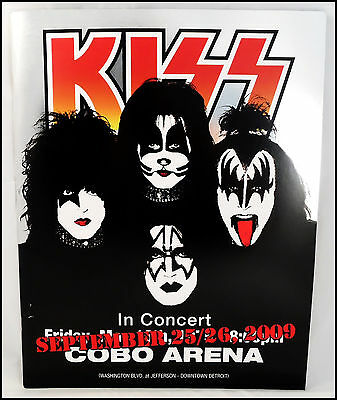 KISS 2009 Cobo Arena Concert Tour Program Book