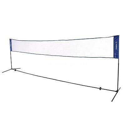 TOMSHOO 3/5m Portable Badminton Net and Post Set with Stand & Carry Bag Y7H4