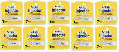 Schick Injector Single Edge Razor Blades - 7 Blades (10 Pack)