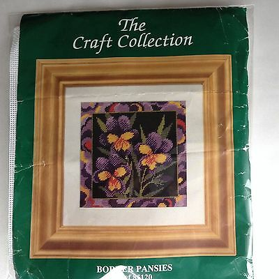 """The Craft Collection Tapestry Kit """"Border Pansies"""""""